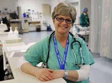 By Scott G. Winterton, Deseret News. Sheli Craven, a nurse at the Riverton Hospital, says she is lucky to have the job because the recession has forced part-timers into full-time work and those who were scheduled to retire can't afford to.