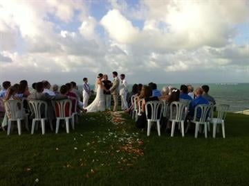 By Weddings in Vieques. Tracy Phillips and Jeff Matthews were married at a waterfront villa on Dec. 7, 2013, in a gorgeous wedding planned by Sandy Malone.